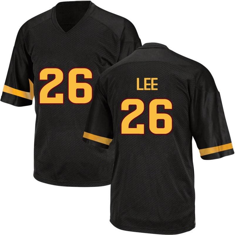 Game Men's T Lee Arizona State Sun Devils Black Football College Jersey