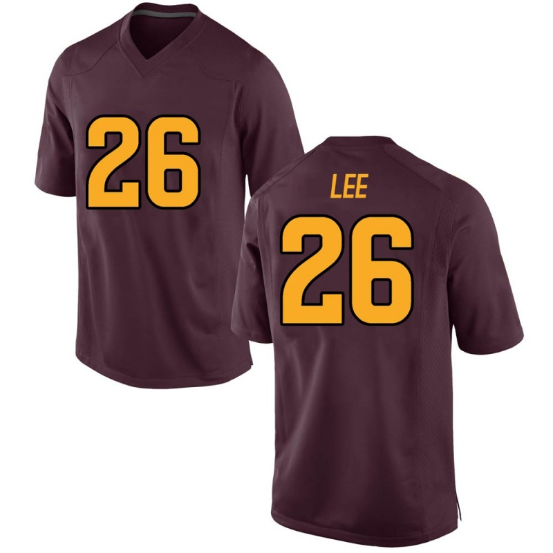 Game Men's T Lee Arizona State Sun Devils Maroon Football College Jersey