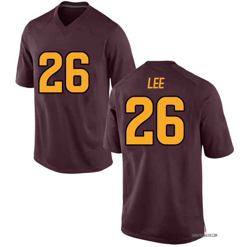 Game Youth T Lee Arizona State Sun Devils Maroon Football College Jersey