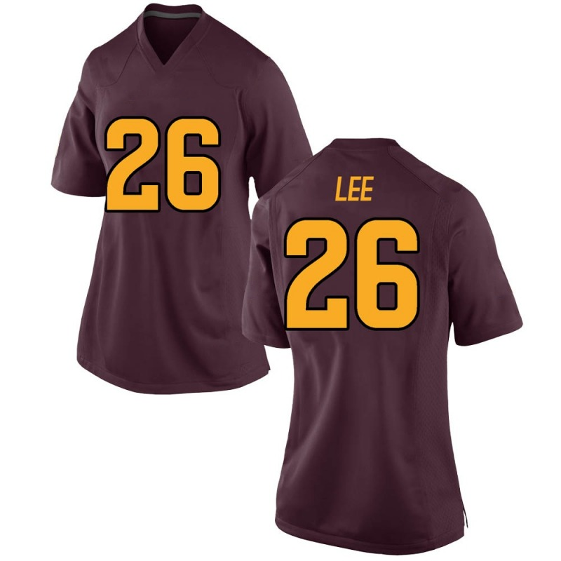 Replica Women's T Lee Arizona State Sun Devils Maroon Football College Jersey